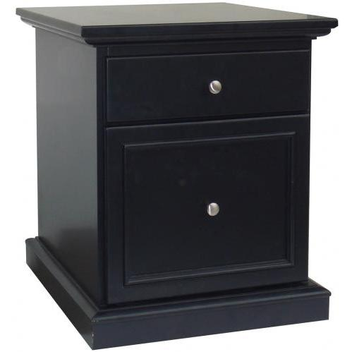 Home Styles Bedford Mobile File - Ebony - 5531-01