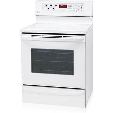 LG Ranges LRE30757SW 30 Inch Freestanding With Convection Oven And Warming Drawer Electric Range White - LRE30757SW