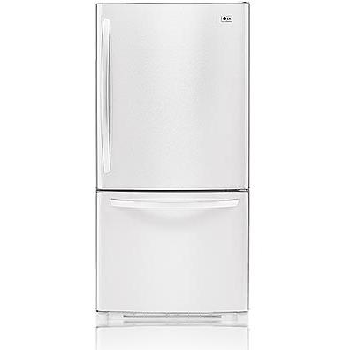 LG LDC22720SW 22.4 Cu. Ft. Bottom Mount Refrigerator / Freezer - White