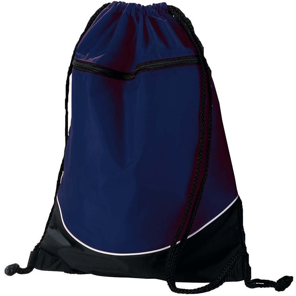 Augusta Tri-color Drawstring Backpack - Navy/black
