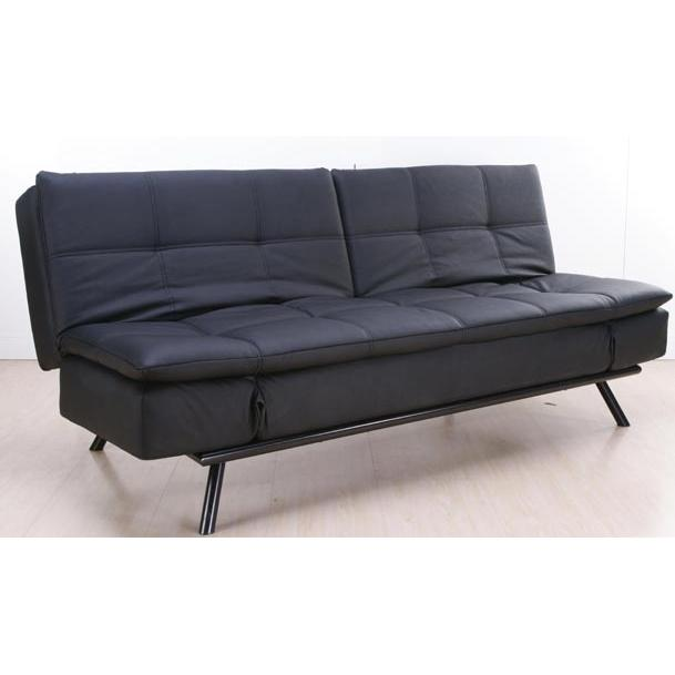 Picture of Abbyson Living Alpine Leather Convertible Sofa - Black - AD-100L