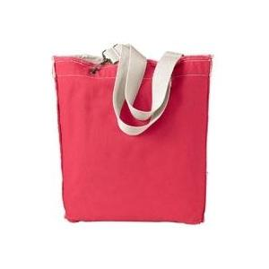 Authentic Pigment Direct-Dyed Raw-Edge Tote - Tulip