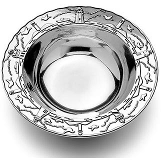 Wilton Armetale Lighthouse Small Round Bowl/Polished/bx - 424534