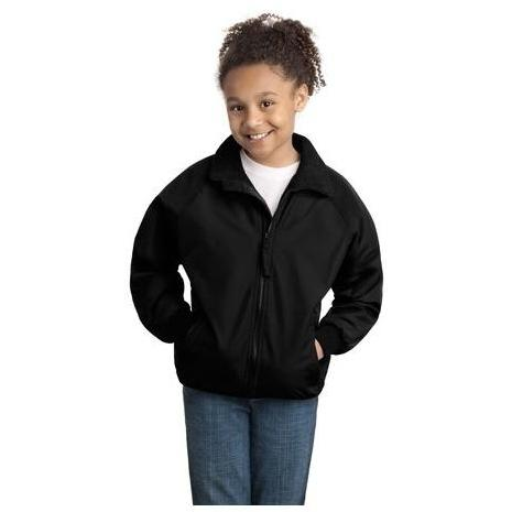 Port Authority Youth Challenger Jacket Large - True Black/True Black