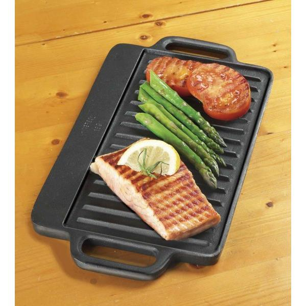 Universal Griddles Reversible Seasoned Cast Iron Griddle - PS189