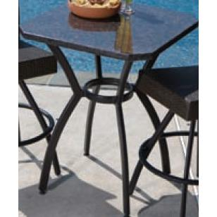 Alfresco Home Vento 29.5 Inch Square Bar Table W/Granite Top