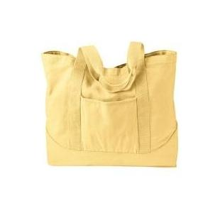 Authentic Pigment Pigment-dyed Large Canvas Tote Bag - Goldenrod