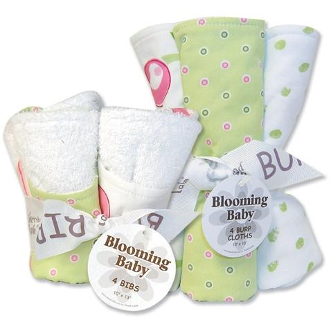 Trend Lab Bib And Burp Cloth Set - Tulip
