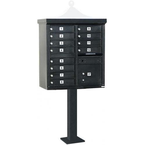 Regency F-Series 12-Door Cluster Box Unit - Black