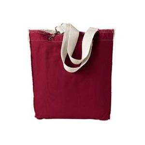 Authentic Pigment Direct-Dyed Raw-Edge Tote - Chili