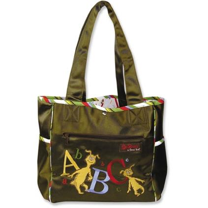 Trend Lab Embroidered Dr Seuss ABC Tulip Diaper Bag.