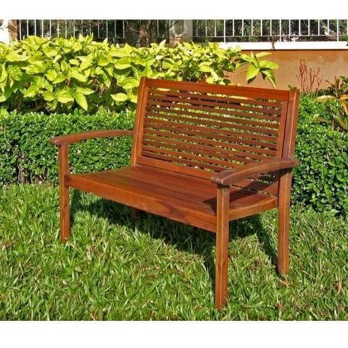 International Caravan Contempo Wood Patio Bench at Sears.com