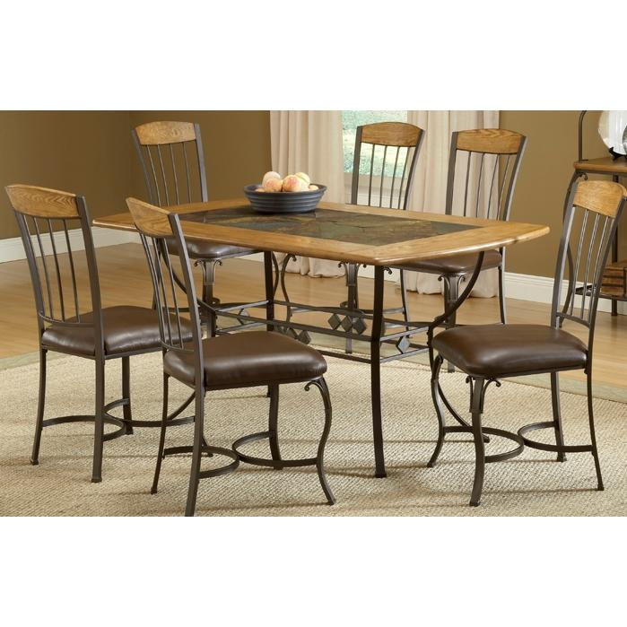899 hillsdale lakeview dining set rectangle table with wood chair