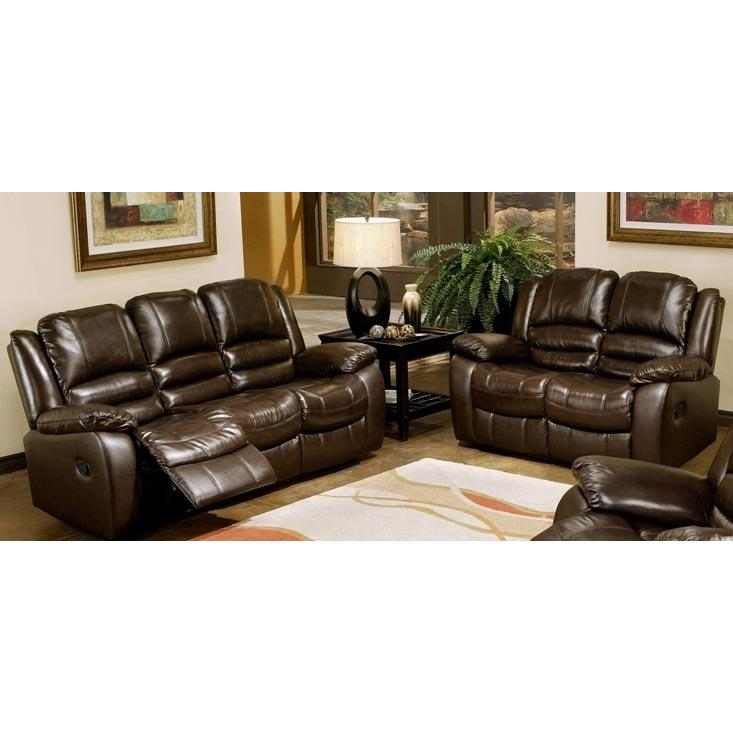 Picture of Abbyson Living Brownstone Reclining Leather Sofa And Loveseat Set - CH-8801-BRN-32