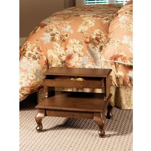 Powell Furniture - Attic Cherry Antique Cherry Bed Steps With Drawer - 961-535