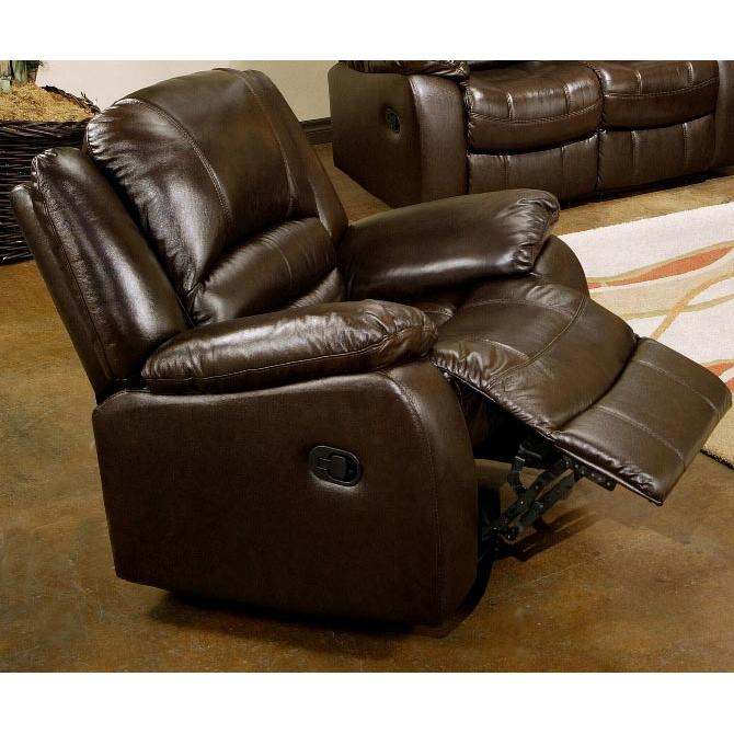 Picture of Abbyson Living Brownstone Reclining Leather Armchair - CH-8801-BRN-1