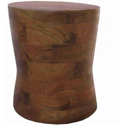Groovy Stuff Teak Wood Spindle Block Side Table - TF-753