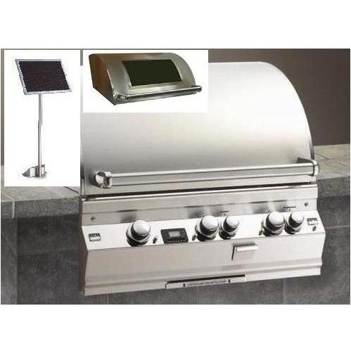 Fire Magic Gas Grills Echelon E660i Natural Gas Built-In Grill With Solar Panel And Magic View Window