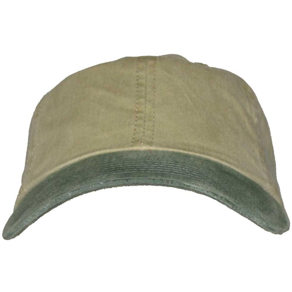 Port Authority 2-Tone Garment-Washed Cap - Khaki / Green, Discount ID PWTTU-70733