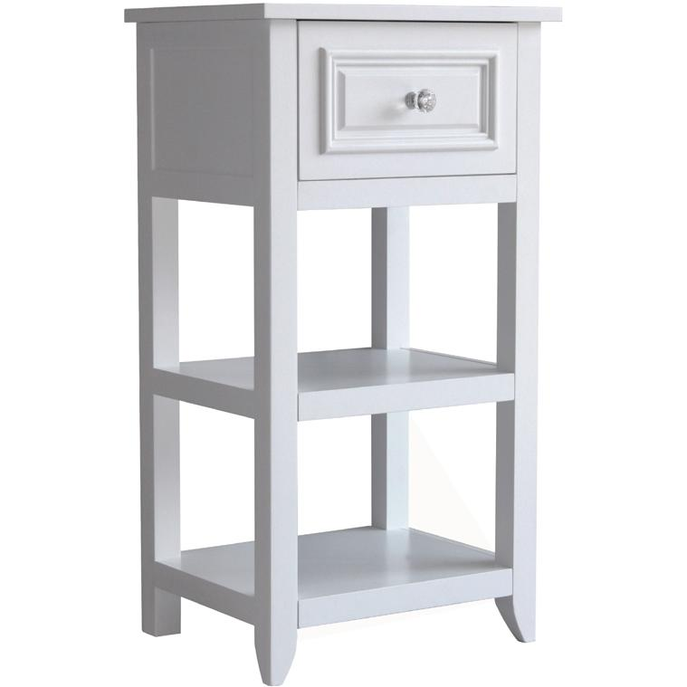 Elegant Home Fashions Dawson Floor Cabinet With One Drawer And Shelves 6858