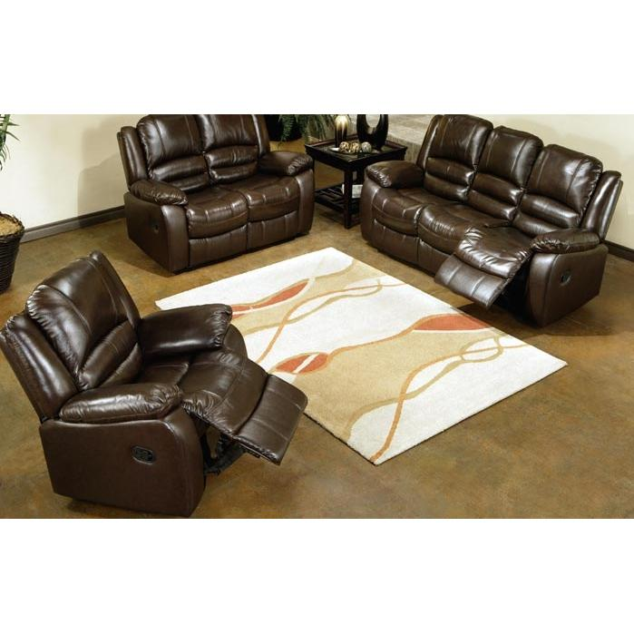 Picture of Abbyson Living Brownstone Reclining Leather Sofa And Chair Set - CH-8801-BRN-31