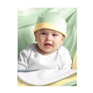Bella Baby 1x1 Rib Infant Reversible Beanie - White