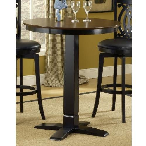 Picture of Hillsadle Dynamic Designs 36 Inch Pub Table - Brown CherryBlack - 4975PTBBLK