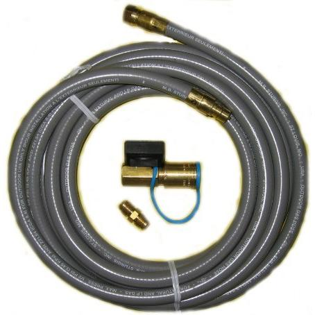 PGS Natural Gas Hose With Quick Disconnect And Shut Off Valve