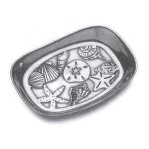 Wilton Armetale Seashells Bread Tray