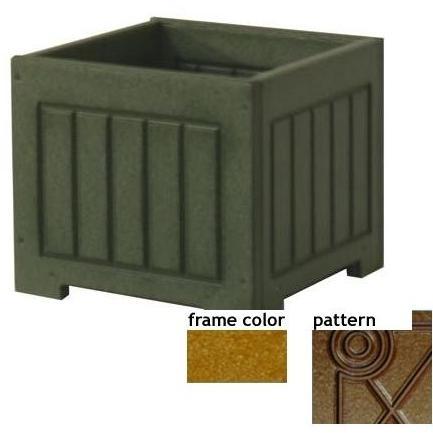 Eagle One Recycled Plastic 12 Inch Catalina Planter Box Diamond Pattern - Cedar