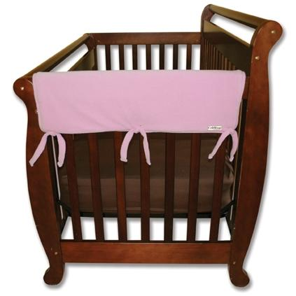 Trend Lab Wide 2-Piece Crib Rail Guard 27 Inch - Pink Fleece
