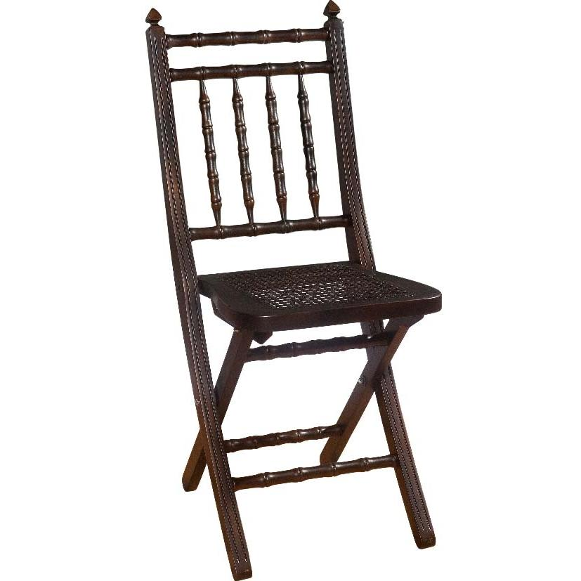 Hillsdale Clermont Black Gold Folding Chair - 63703