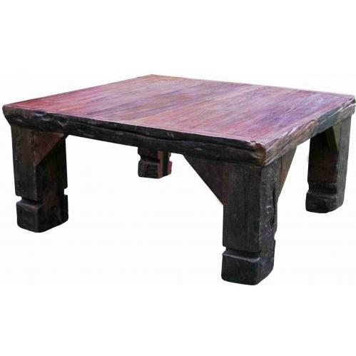 Groovy Stuff Ranch House Teak Wood Coffee Table Square - TF-470
