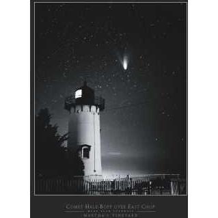 Comet Hale-Bopp Over East Chop Poster Print