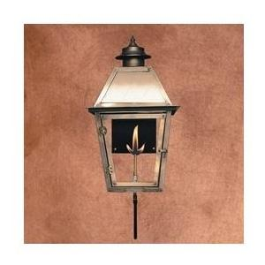 Legendary Lighting Atlas 1 Copper Natural Gas Light With Wall Bracket