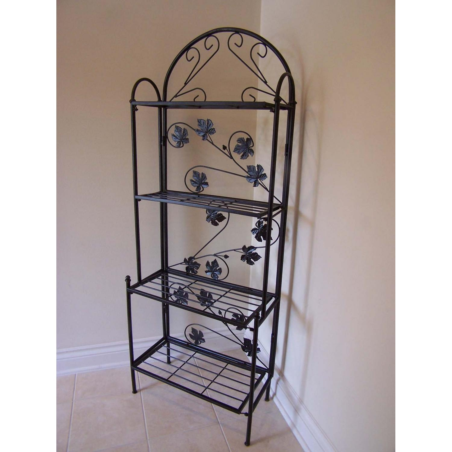 Oakland Living Sun Valley Bakers Rack - Black