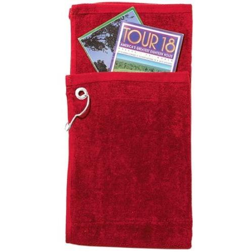 Picture of Cobra Caps Bi-Fold Golf Towel With Pocket - Red