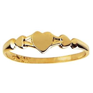 Elegant Baby Infant Gold Heart Ring