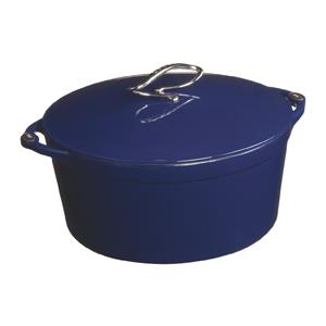 Lodge Dutch Ovens L Series 6 Quart Enamel Cast Iron Dutch Oven, Liberty Blue - E6D30