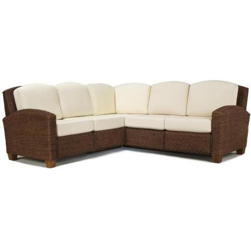 Home Styles Cabana Banana L-Shaped Sectional Sofa - Cocoa - 5402-62
