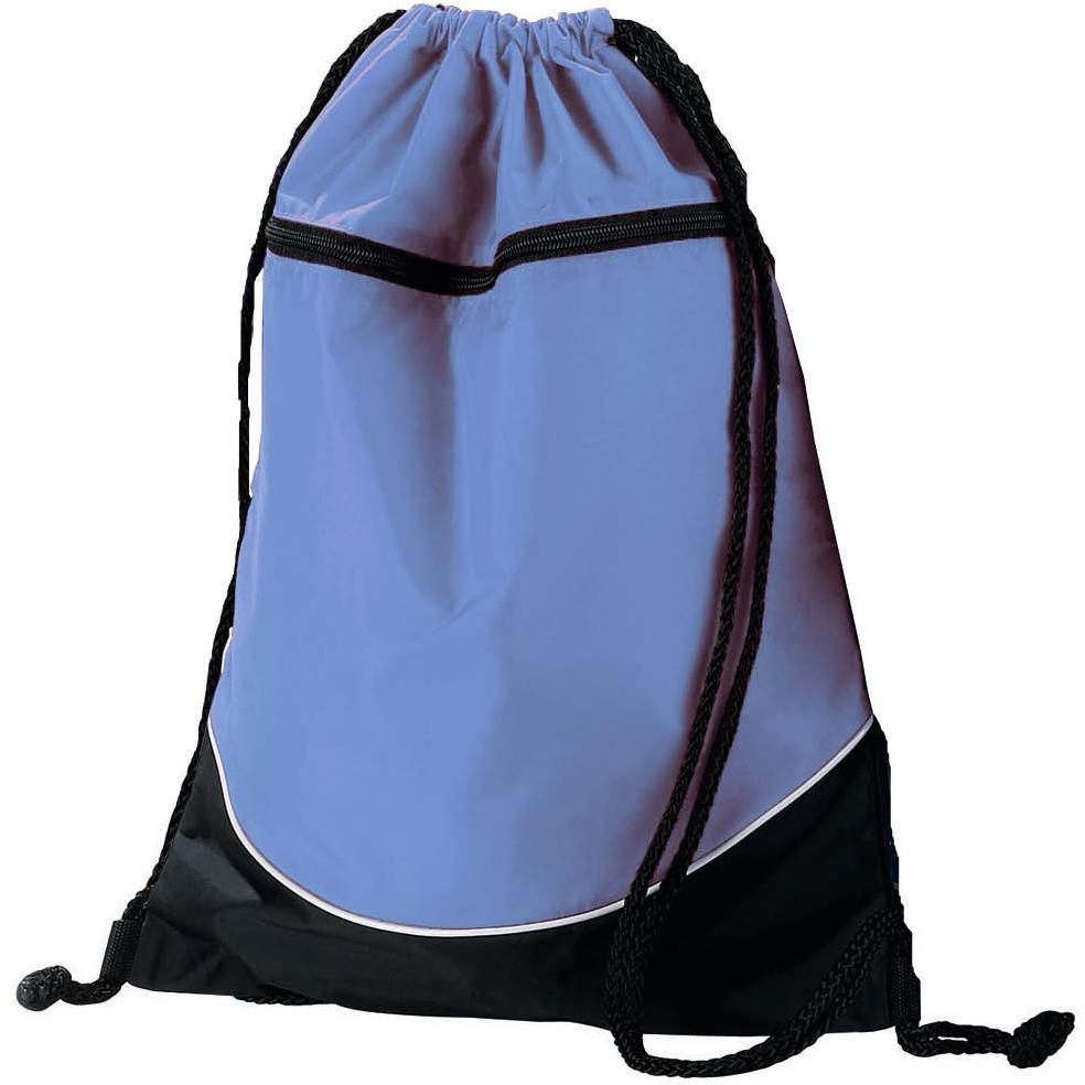 Augusta Tri-color Drawstring Backpack - Columbia Blue/black