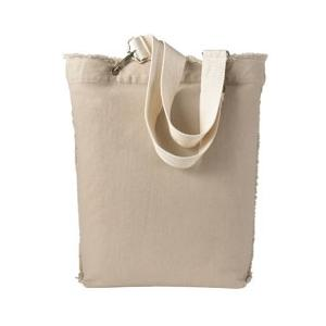 Authentic Pigment Direct-Dyed Raw-Edge Tote - Stone