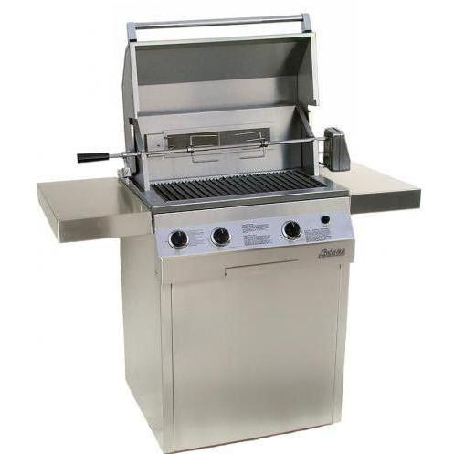 Solaire Gas Grills 27 Inch Deluxe All Infrared Propane Gas Grill With Rotisserie On Square Cart Base 1548935