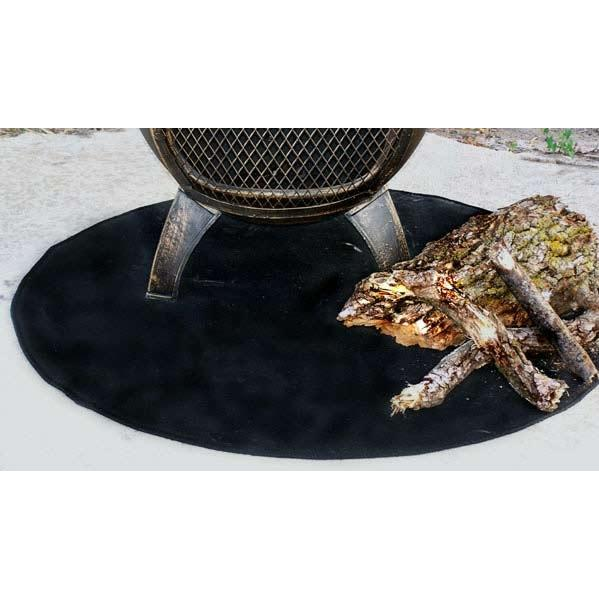 The Blue Rooster 36 X 36 Round Fire Resistant Deck Pad