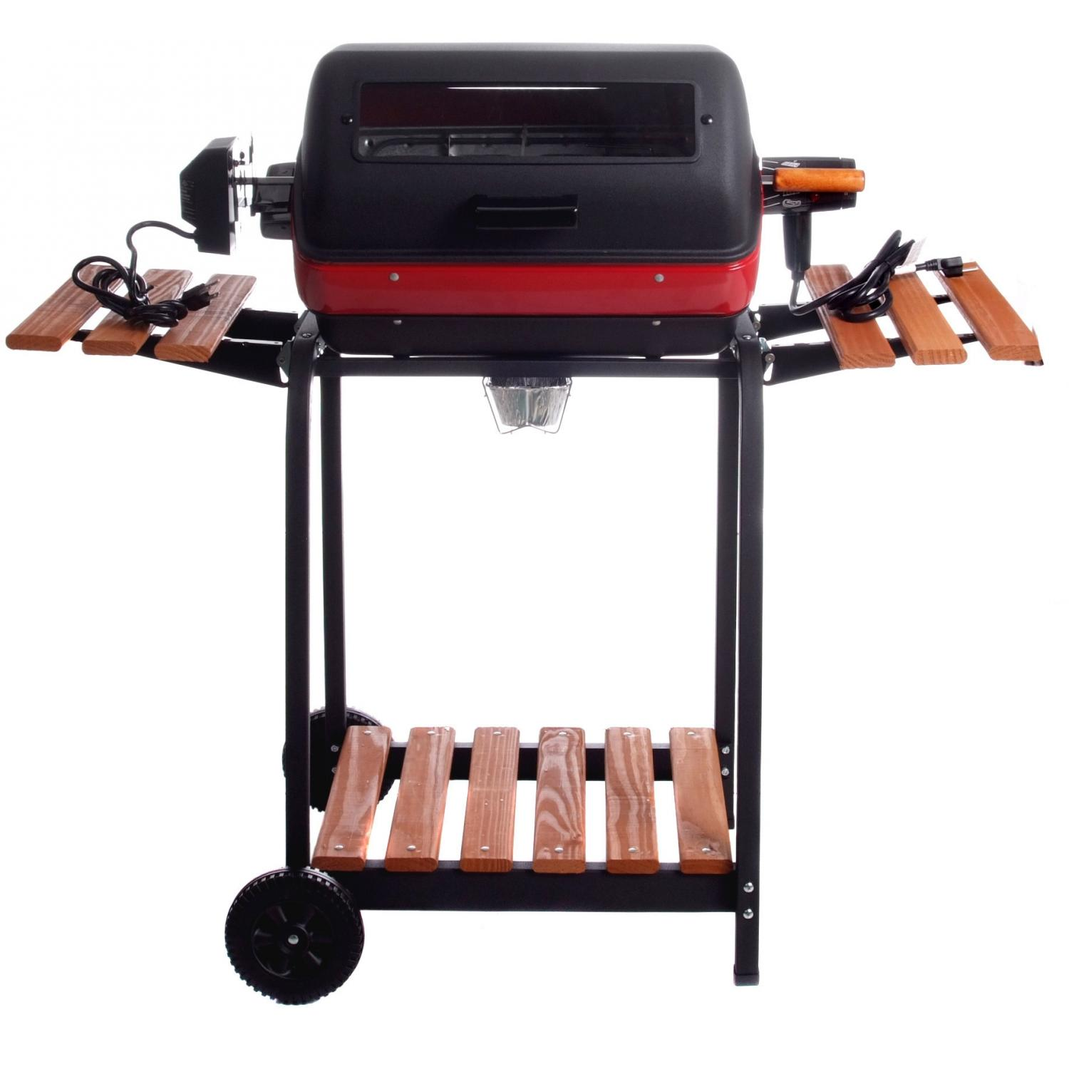 Meco Electric Grill On Cart With Rotisserie And Fold Down Side Tables - 9329W 473
