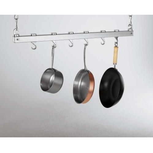 Concept Housewares CP40219 Chrome - Innovative 36-Inch Dual Track Ceiling Kitchen Rack