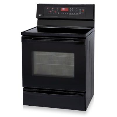 LG Ranges LRE30757SB 5.6 Cu Ft 30 Inch Freestanding Electric Range With Convection Oven And Warming Drawer- Black