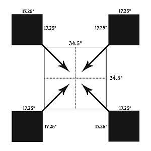 Birchwood Casey Shoot-n-c Square Matrix Target, 12 Inch, (per 12)