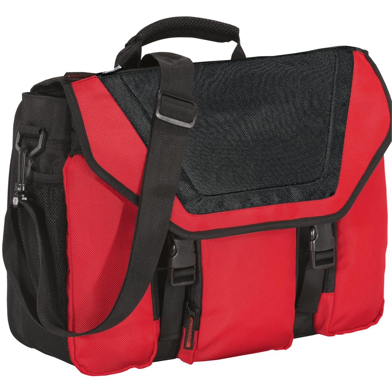 Port Authority Messenger Briefcase - Chili Red/Black
