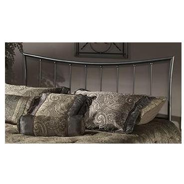 Hillsdale Edgewood Magnesium Pewter Metal Headboard With Frame - Full/Queen - 1333HFQR